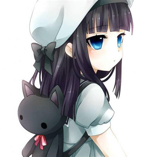 Trending  Tumblr - anime girl with black hair and brown eyes kid