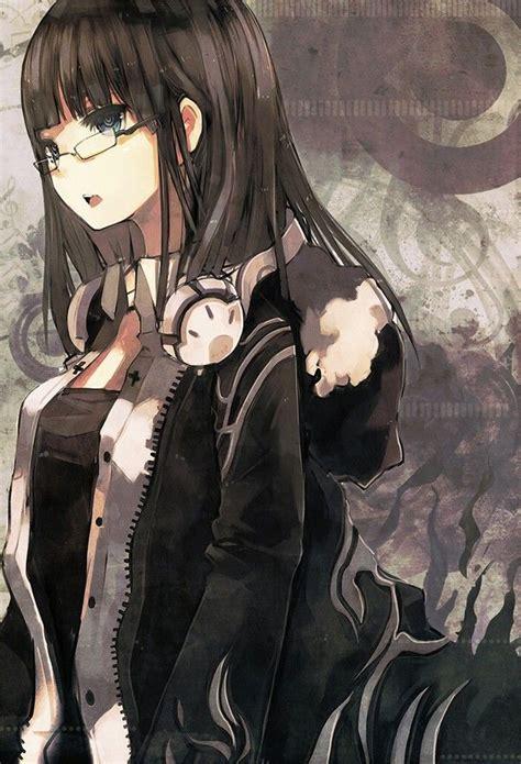 Pin di Anime - long hair tomboy anime girl with black hair and brown eyes