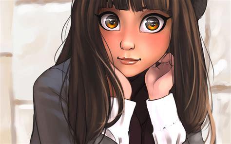 Black Cartoon Wallpaper For Girls - cartoon wallpaper - anime girl with black hair and brown eyes pfp
