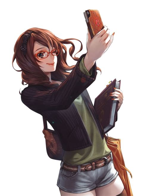 Pin on Art - girl playing guitar brown hair beautiful cute anime girl