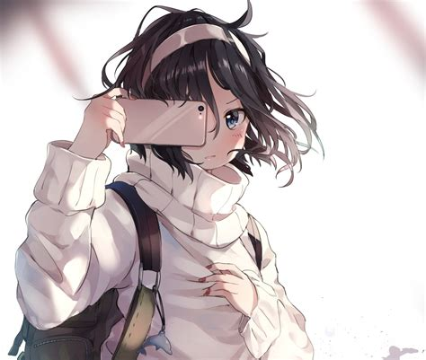 Anime Girl With Short Curly Brown Hair - These Will Be the ... - anime girl with short brown curly hair and brown eyes