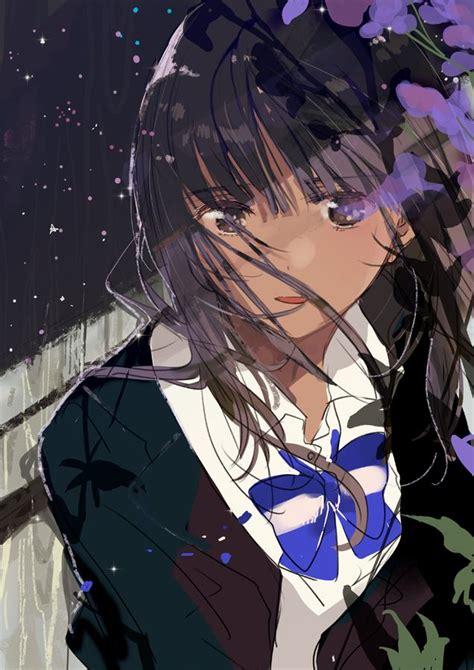 Newest For Anime Girl Black Hair Brown Eyes Brown Skin ... - anime girl with black hair and brown eyes aesthetic