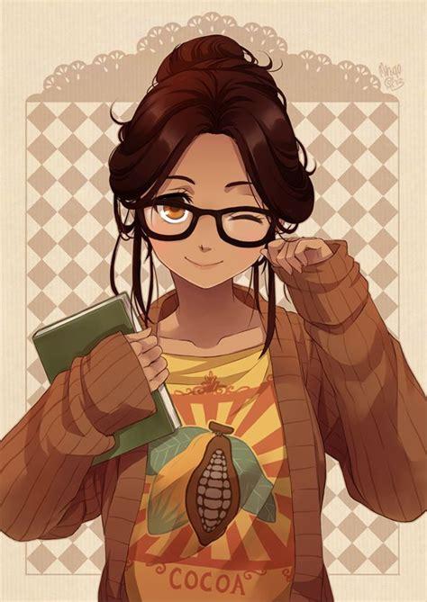 Пин на доске Аниме - anime girl with black hair and light brown skin