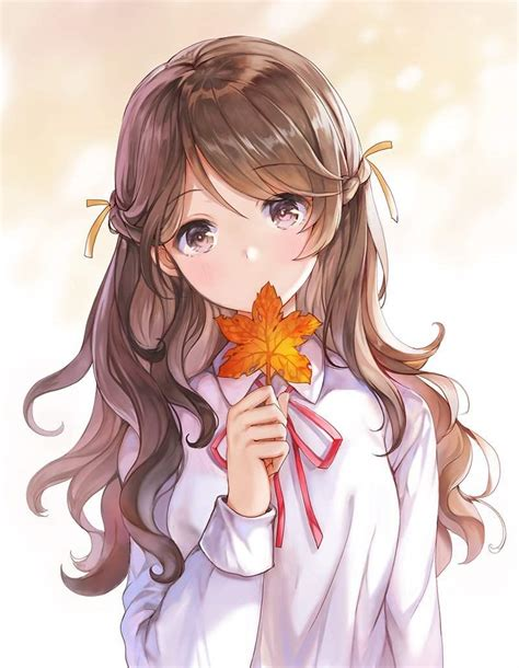 Beautiful Girls 😍💕  Anime Amino - kawaii brown hair beautiful cute anime girl