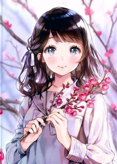 #anime #AnimeGirl #image #Kawaii #Art #Cute #Beautiful # ... - kawaii brown hair beautiful cute anime girl