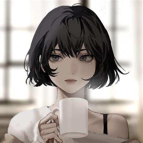 Aesthetic Short Hair Anime Girl - 2021 - aesthetic anime girl with brown hair short