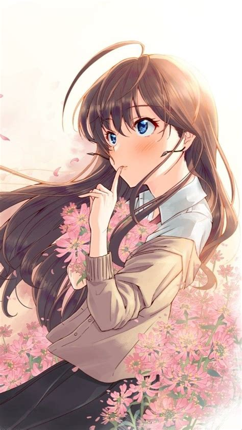 Pin by Jake Frederick on Anime girls in 2019  Anime art ... - kawaii brown hair beautiful cute anime girl