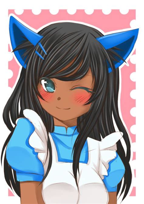 425 best Cute Black/Brown Skinned Anime images on ... - anime girl with black hair and light brown skin