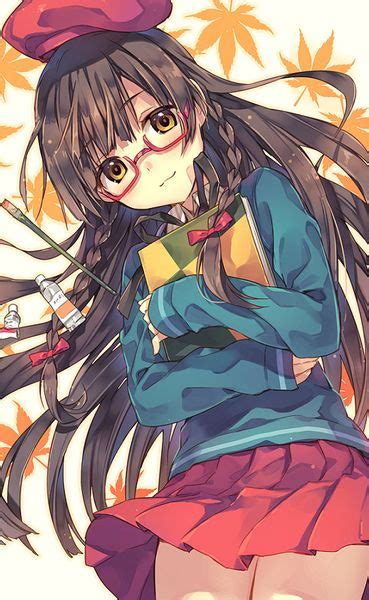 Anime Characters With Brown Hair And Glasses  CINEMAS 93 - brown hair cute anime girl with glasses
