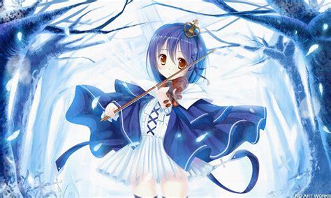 Pin on ☆∂nime - brown hair beautiful anime girl playing guitar
