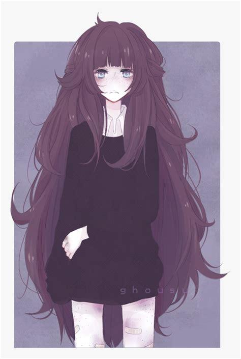 52 Images About Anime Boy Or Girl Sad 😔 On We Heart - Sad ... - aesthetic anime girl with brown hair sad
