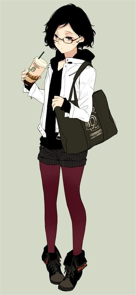 Pin on cool - shy anime girl short brown hair