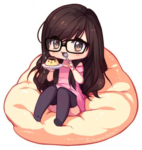 Cute Anime Girl With Brown Hair And Glasses - Free ... - brown hair cute anime girl with glasses