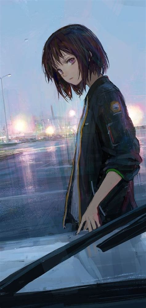 Anime Wallpaper 1080 X 2280 in 2020 (With images)  Anime ... - aesthetic anime girl with brown hair short