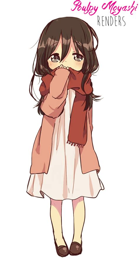 Anime Brown Hair Girl Download Transparent PNG Image  PNG ... - brown anime girl hair png