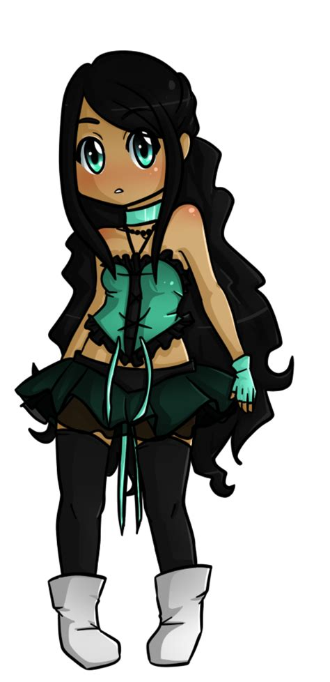 Chibi Miko Than by Salena-Light on DeviantArt - anime girl with black hair and light brown skin