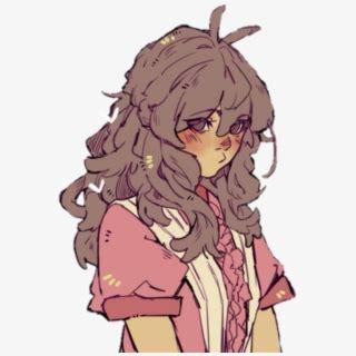 Anime Art Pfp Aesthetic , Transparent Cartoon, Free ... - anime girl pfp brown curly hair