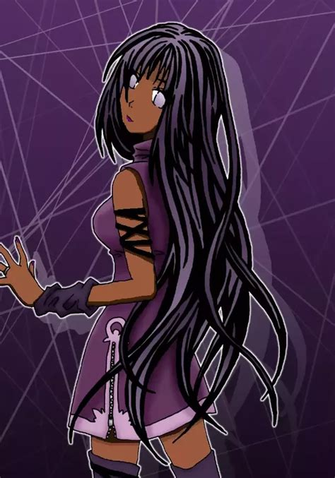 What would you look like, if you were an anime character ... - brown skin cute anime girl with black hair and brown eyes