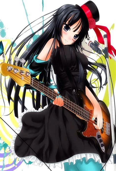 Anime girl black hair guitar  Anime girl, Girls with ... - brown hair beautiful anime girl playing guitar