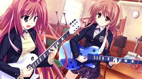 Music :: Guitar :: anime :: art (beautiful pictures ... - brown hair beautiful anime girl playing guitar