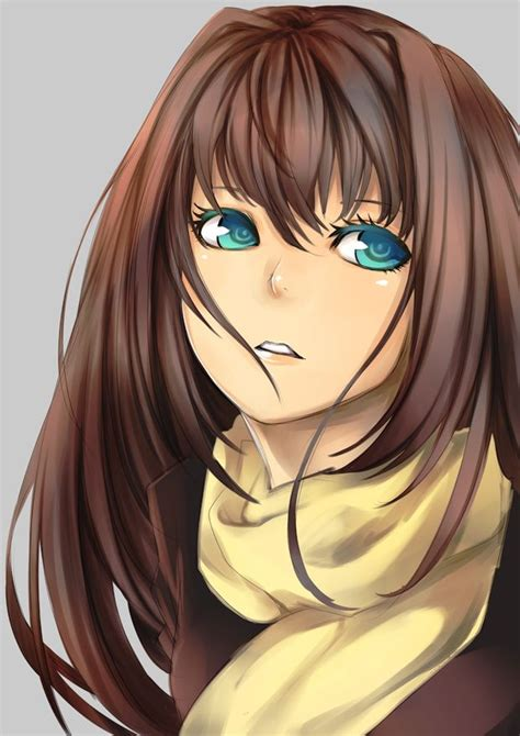 Pin auf Aozaki Aoko - cute anime girl brown hair blue eyes hoodie