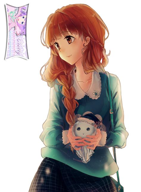 Cute Anime Brown Haired Girl Extracted byCielly by ... - brown anime girl hair png