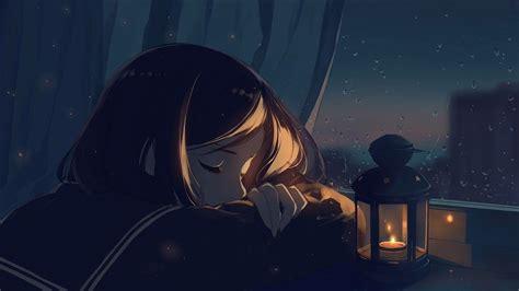 Pin on G - aesthetic anime girl with brown hair sad