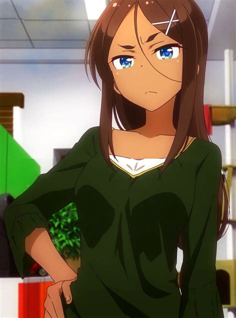 """Platinum 🍤 on Twitter: """"dark skin anime girls are a gift ... - anime girl with black hair and light brown skin"""