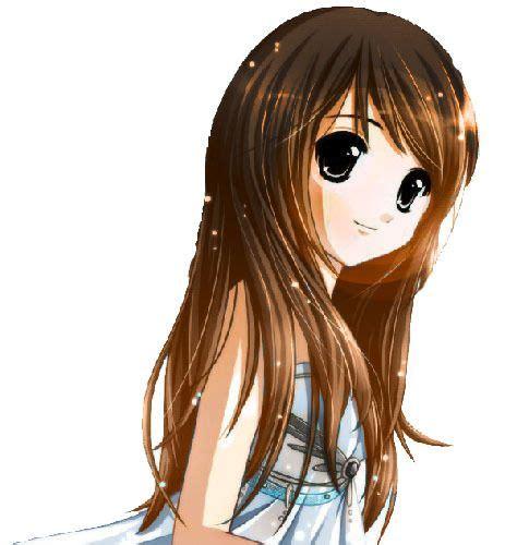 Pin on anime - long hair hazel eyes long hair brown hair beautiful anime girl