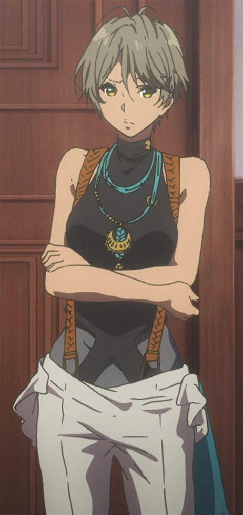 Wasa On Twitter Short Hair Sleeveless Turtleneck - brown hair tomboy brown hair short cute anime girl
