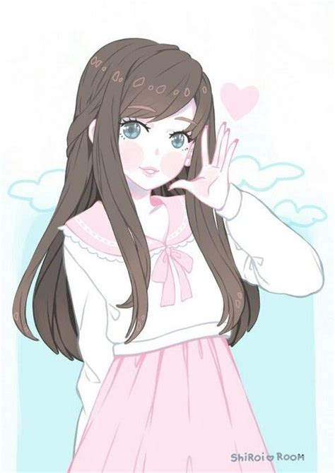 Pin on Anime Girls ️ - cute anime girl pfp brown hair blue eyes