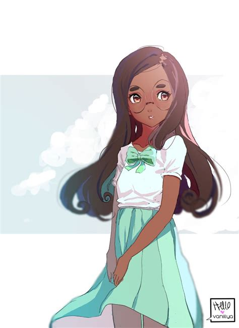 427 best images about Cute Black/Brown Skinned Anime on ... - brown skin cute anime girl with black hair and brown eyes