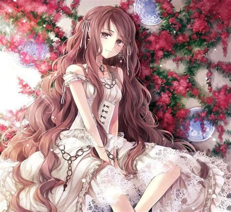 Anime Girl Curly Brown Hair Brown Eyes - cute anime girls with curly brown hair