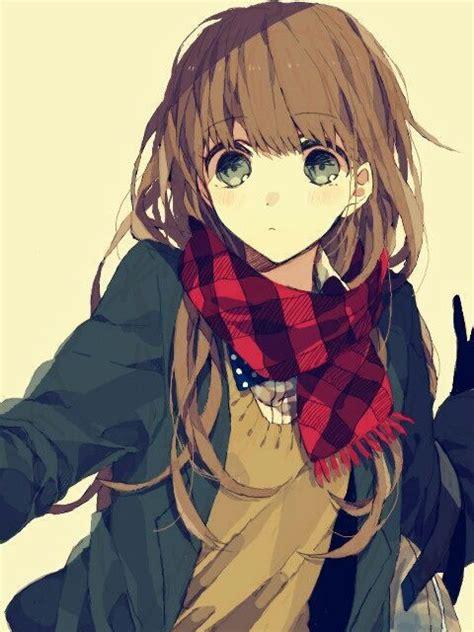 Pin on Manga//Anime Girls With Brown Hair & Green Eyes - shy anime girl with short brown hair and brown eyes