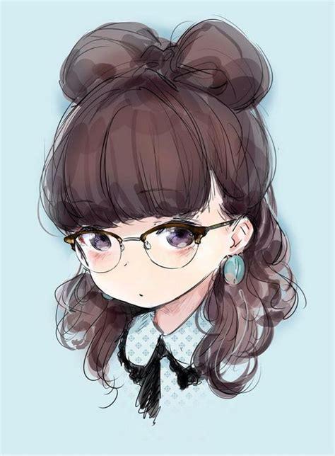 Best 88 Anime Girl glasses ideas on Pinterest  Anime art ... - brown hair cute anime girl with glasses