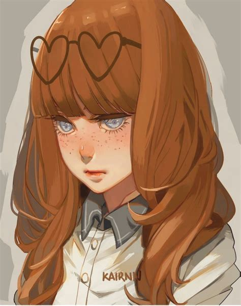 510 images about ★「 ♚• Anime Brown Hair •♔」★ on We Heart ... - anime girl drawing colored brown hair