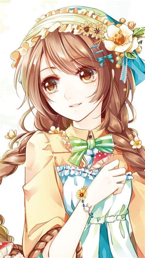 125 best images about Kawaii Anime on Pinterest  Chibi ... - kawaii brown hair beautiful cute anime girl