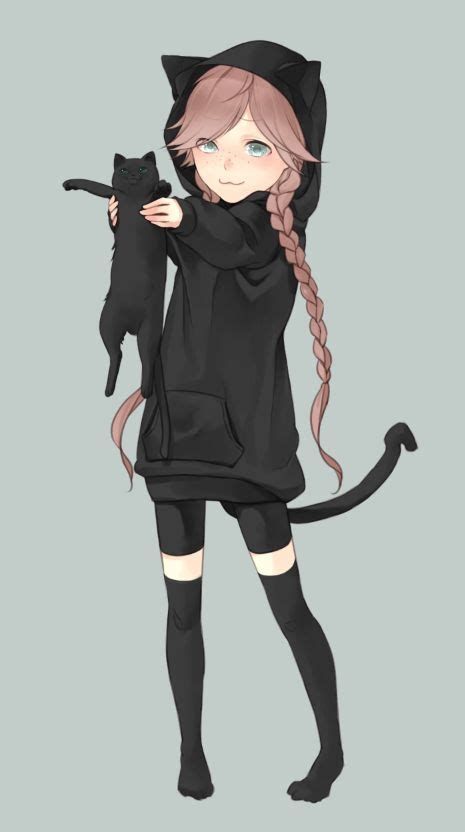 14 best Paws Characters images on Pinterest  Anime art ... - hoodie cute anime girl with black hair and brown eyes