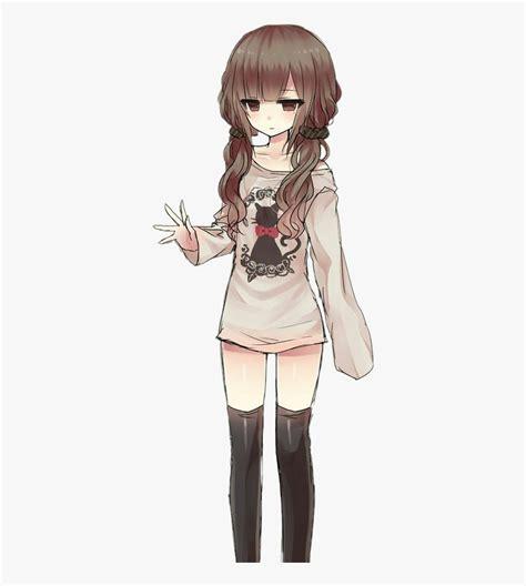 Female Brown Hair Anime , Transparent Cartoons - Cute ... - anime girl drawing colored brown hair