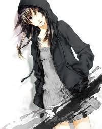 Post an anime character with a hoodie! - Anime Answers ... - hoodie cute anime girl with black hair and brown eyes