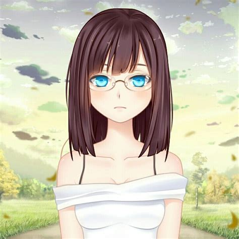 Pin on Anime - girl anime characters with short brown hair and glasses
