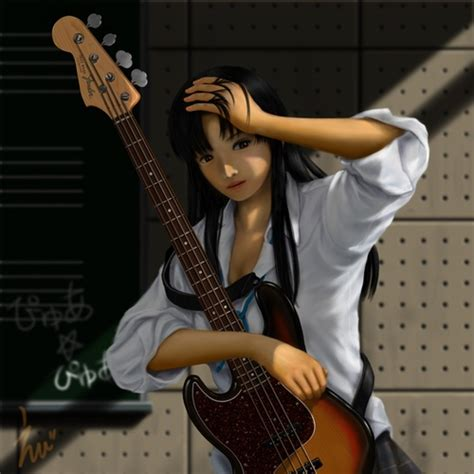 13 best Bass cartoon images on Pinterest  Bass, Anime and ... - brown hair beautiful anime girl playing guitar