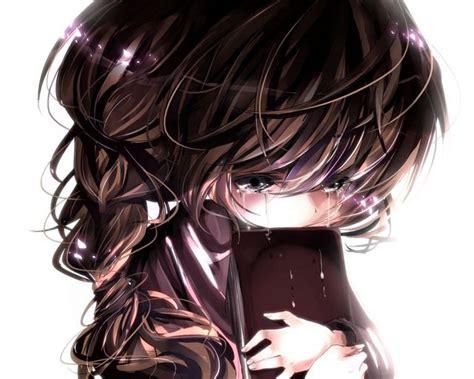 Pin on :: Faith - aesthetic anime girl with brown hair sad
