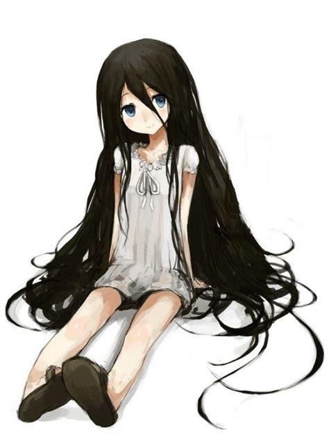 Pin on Anime girls - anime girl with short black hair and dark brown eyes