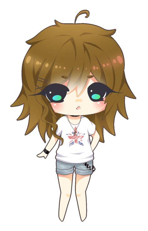 Cute chibi girl brown hair  Chibi, Chibi girl ... - brown anime girl hair png