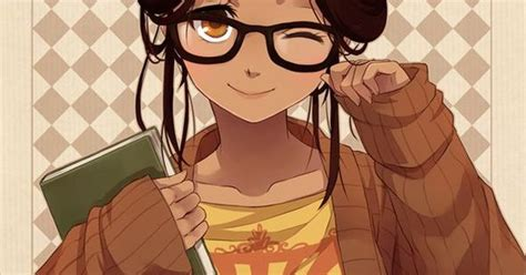 Anime girl with brown hair and glasses - Поиск в Google ... - girl anime characters with brown hair and glasses