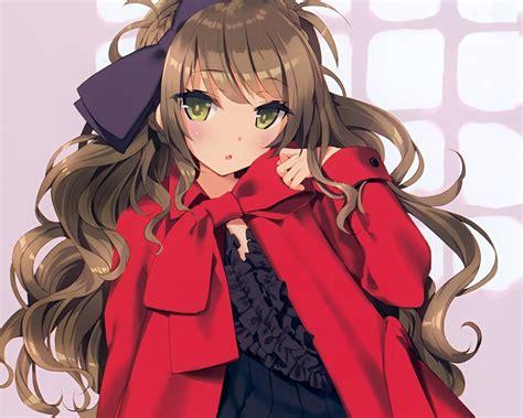 Original HD Wallpaper  ID ... - long hair brown hair green eyes long hair brown hair cute anime girl