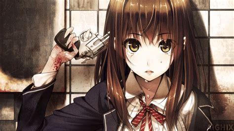 Sad Anime Girl Wallpapers - Wallpaper Cave - aesthetic anime girl with brown hair sad
