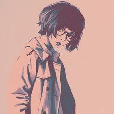 64 Best Discord pfp's images in 2019  Aesthetic anime ... - aesthetic anime girl with short brown hair and glasses