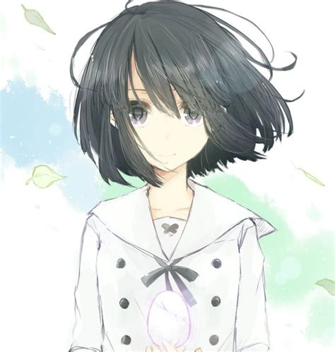 Top Ideas 48+ Short Black Hair Female Anime Characters - black brown anime girl short hair